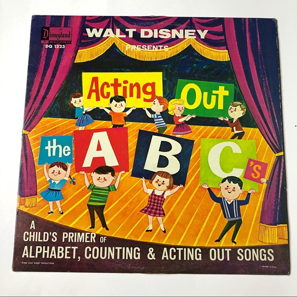 Walt Disney Acting Out The ABC's Record